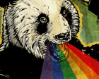 Demo: Glitchy Rainbow Panda