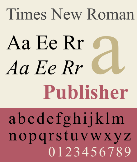 On Times New Roman