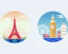 Animated Illustrations of Paris and London
