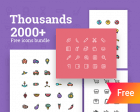 2000+ Free Thousands Icons Bundle – Colored and Wired
