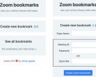 Zoom Bookmarks - Save Time Hunting for Meeting Links by Saving Them for Later