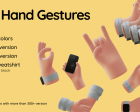 3D Hand Gestures - Cute Hand Gestures for your Designs