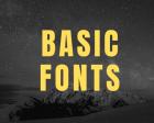 30 Basic Fonts