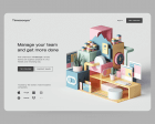 30 Inspiring Web Design Concepts with 3D Graphics