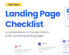 Landing Page Checklist - Build your Landing Page with these 100+ Tools