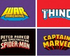 A Collection of Hand-Lettered Marvel Superhero Logos