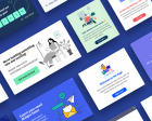Templates Library by Helppier - Curated Directory of 40+ In-app Messaging Templates for SaaS