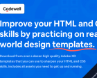 Codewell - Improve your HTML & CSS Skills by Practicing on Real Designs