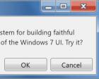 7.css - A CSS Framework for Recreating Windows 7 UI