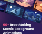 Scenic Background Animations - 60+ Free Background Scenes Illustrated and Animated