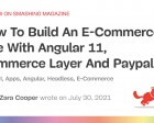 How to Build an E-Commerce Site with Angular 11, Commerce Layer and PayPal