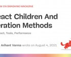 React Children and Iteration Methods