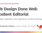 Web Design Done Well: Excellent Editorial