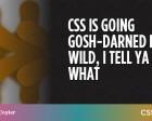 CSS is Going Gosh-Darned Hog Wild, I Tell Ya What
