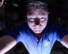 NASA Astronaut Uses Earth's Glow to Light his Space Selfies