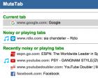 MuteTab: Better Tab Muting for Chrome