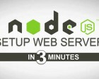 How to Setup your NodeJS Local Server in 3 Minutes.